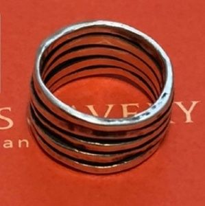 James Avery Hammered Stacked Ring